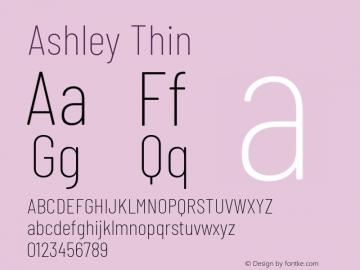 Ashley Thin Version 1.101 November 20, 2017图片样张