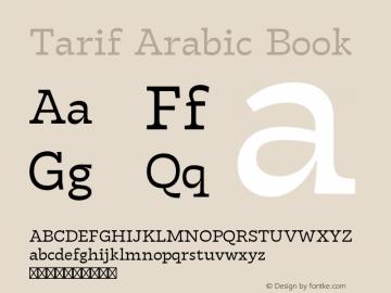 Tarif Arabic Book Version 1.000;hotconv 1.0.109;makeotfexe 2.5.65596图片样张
