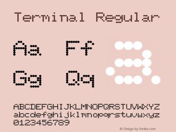 Terminal Regular 001.001 Font Sample