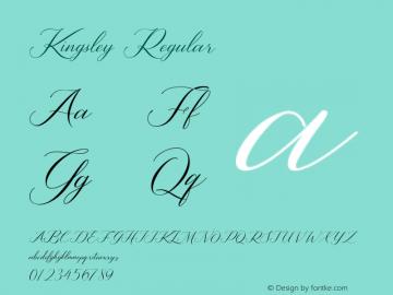 Kingsley Version 1.00;August 15, 2020;FontCreator 11.5.0.2422 64-bit图片样张