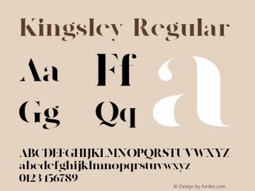 Kingsley-Regular Version 1.000图片样张