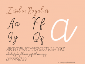 Zisilia Version 1.00;August 26, 2020;FontCreator 12.0.0.2525 64-bit图片样张