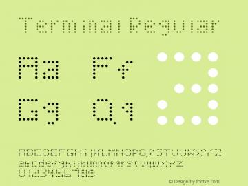 Terminal Regular Version 1.0 Font Sample