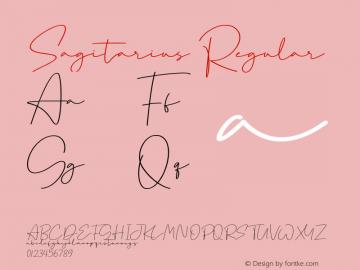 Sagitarius Version 1.00;August 21, 2020;FontCreator 12.0.0.2525 64-bit图片样张