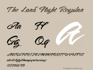 The Lord Night Version 1.00;August 19, 2020;FontCreator 12.0.0.2563 64-bit图片样张