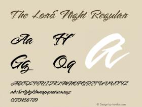 The Lord Night Version 1.00;August 19, 2020;FontCreator 12.0.0.2563 64-bit图片样张