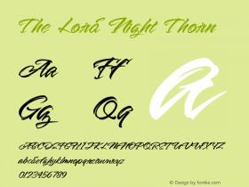 The Lord Night Thorn Version 1.00;August 19, 2020;FontCreator 12.0.0.2563 64-bit图片样张