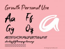 Growth Personal Use Version 1.001;Fontself Maker 3.5.1图片样张