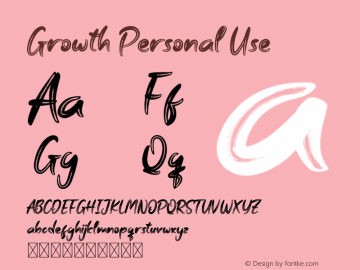 Growth Personal Use Version 1.001;Fontself Maker 3.5.1图片样张