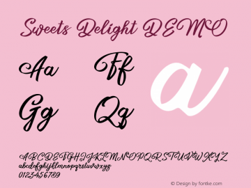 Sweets Delight DEMO Version 1.103;Fontself Maker 3.5.1图片样张