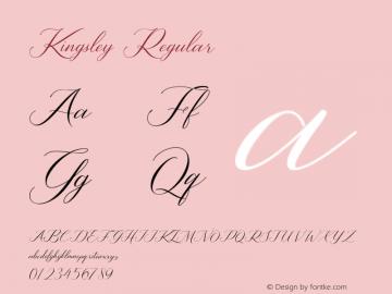 Kingsley Version 1.00;August 29, 2020;FontCreator 11.5.0.2422 64-bit图片样张
