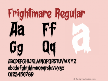 Frightmare Version 1.021;Fontself Maker 3.5.1图片样张