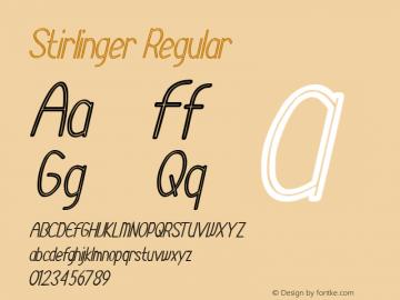 Stirlinger Version 1.00;August 26, 2020;FontCreator 12.0.0.2525 64-bit图片样张
