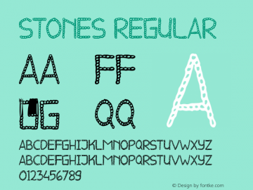 STONES Version 1.00;August 28, 2020;FontCreator 11.5.0.2427 64-bit图片样张