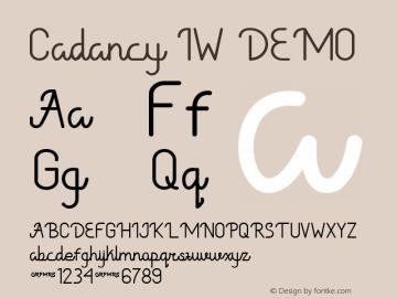 Cadancy IW DEMO Version 1.000图片样张