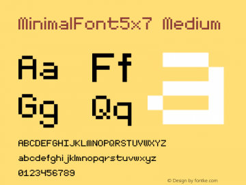 MinimalFont5x7 Version 001.000图片样张
