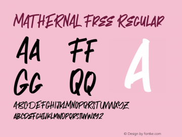 MATHERNAL Free Regular 1.000图片样张