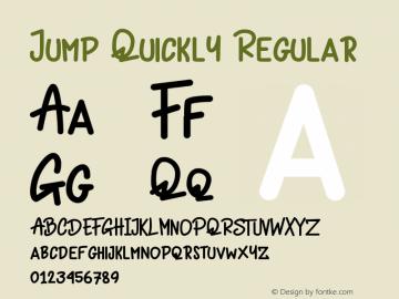 Jump Quickly Version 1.019;Fontself Maker 3.5.1图片样张