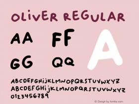 Oliver Regular Version 001.002图片样张