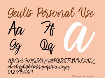 GeulisPersonalUse Version 1.003;Fontself Maker 3.3.0图片样张