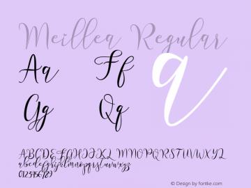 Meillea Version 1.00;August 24, 2020;FontCreator 11.5.0.2430 64-bit图片样张