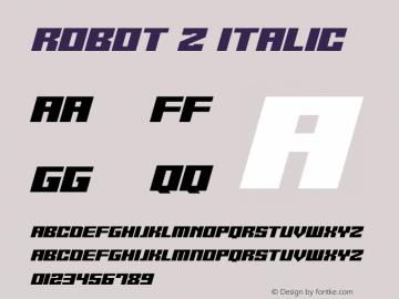 Robot Z Italic Version 1.10;October 14, 2020;FontCreator 12.0.0.2567 64-bit图片样张