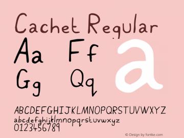 Cachet Regular Version 001.007 Font Sample