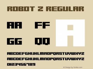 Robot Z Version 1.10;October 14, 2020;FontCreator 12.0.0.2567 64-bit图片样张