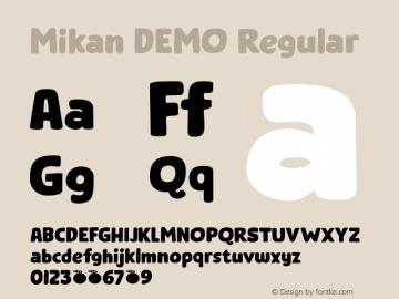Mikan DEMO Regular Version 1.000图片样张