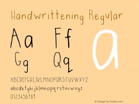 Handwrittening Regular Version 001.003图片样张