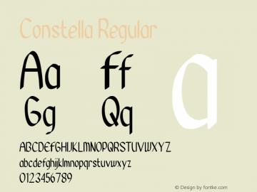Constella Version 1.00;August 26, 2020;FontCreator 12.0.0.2525 64-bit Font Sample