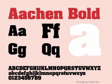 Aachen Bold Unknown Font Sample