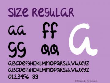 SIZE Version 1.00;August 7, 2020;FontCreator 11.5.0.2427 64-bit图片样张