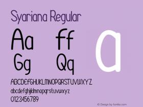 Syariana Version 1.00;August 26, 2020;FontCreator 12.0.0.2525 64-bit图片样张