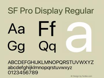 SF Pro Display Regular Version 16.0d12e3图片样张