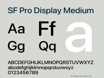 SF Pro Display Medium Version 16.0d12e3图片样张