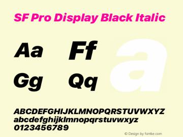 SF Pro Display Black Italic Version 16.0d12e3图片样张