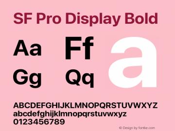 SF Pro Display Bold Version 16.0d12e3图片样张