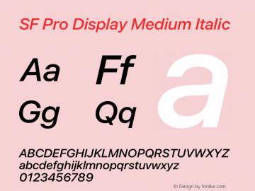 SF Pro Display Medium Italic Version 16.0d12e3图片样张