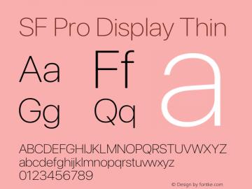 SF Pro Display Thin Version 16.0d12e3图片样张