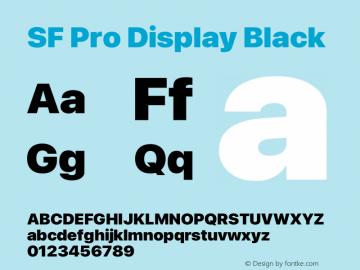 SF Pro Display Black Version 16.0d12e3图片样张