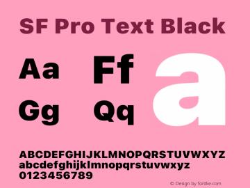 SF Pro Text Black Version 16.0d12e3图片样张