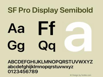 SF Pro Display Semibold Version 16.0d12e3图片样张