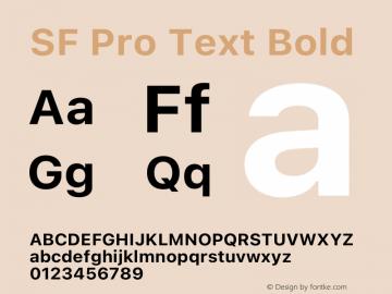 SF Pro Text Bold Version 16.0d12e3图片样张
