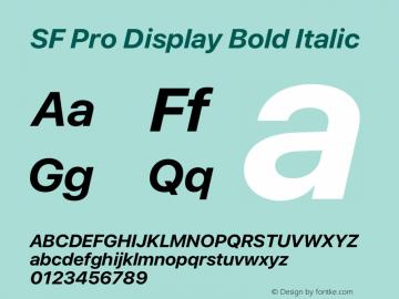 SF Pro Display Bold Italic Version 16.0d12e3图片样张