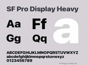SF Pro Display Heavy Version 16.0d12e3图片样张