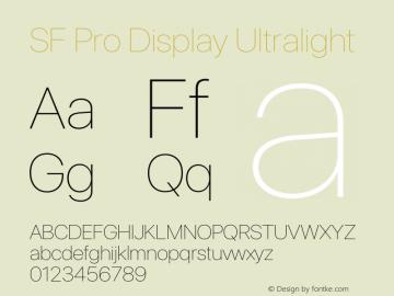 SF Pro Display Ultralight Version 16.0d12e3图片样张