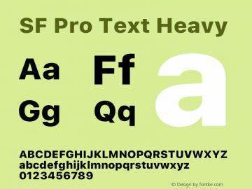 SF Pro Text Heavy Version 16.0d12e3图片样张