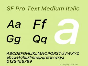 SF Pro Text Medium Italic Version 16.0d12e3图片样张