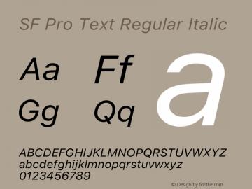 SF Pro Text Regular Italic Version 16.0d12e3图片样张